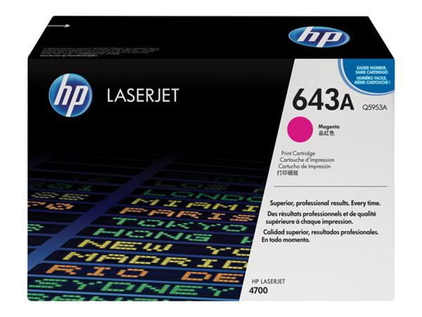 HP 643A Magenta Original LaserJet Toner Cartridge