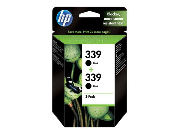 HP 339 2-pack Black Original Ink Cartridges