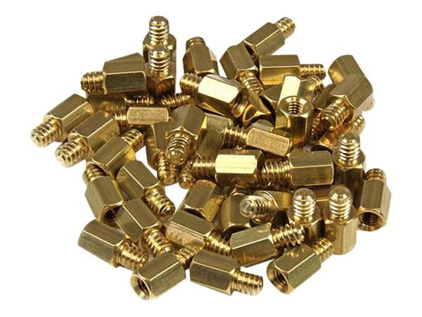 StarTech.com Replacement PC Mounting #6-32 to M3 Metal Jack Screw Standoff 50 Pack