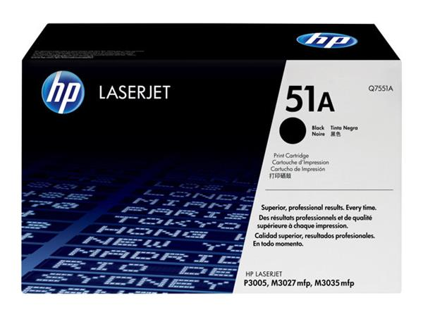 HP 51A Black Original LaserJet Toner Cartridge