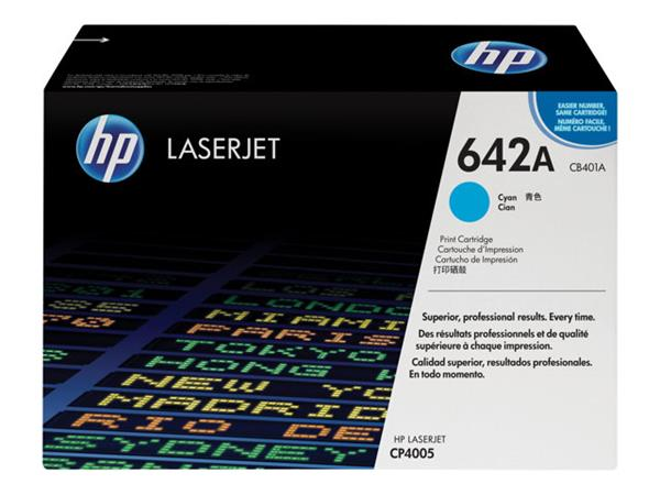 HP 642A Cyan Original LaserJet Toner Cartridge