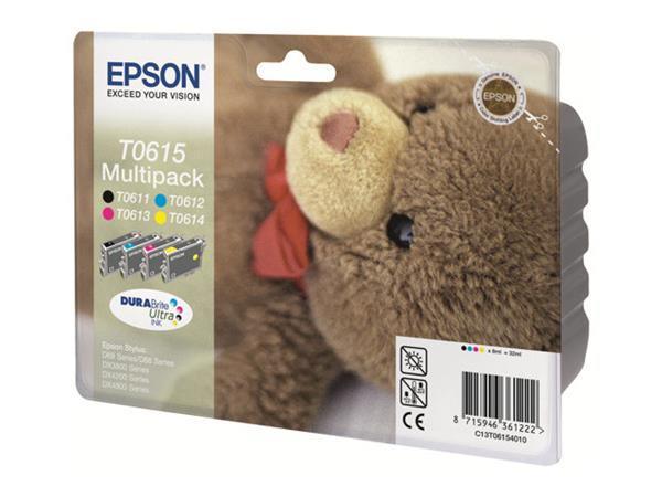 Epson Multipack T0615 - Print cartridge - 1 x black, magenta, yellow, cyan - 250 pages