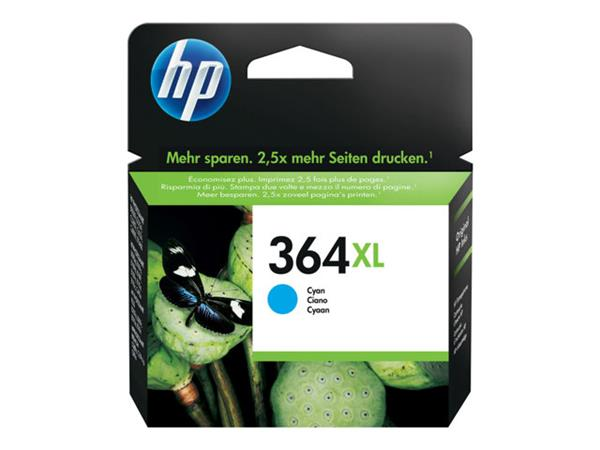 HP 364XL High Yield Cyan Original Ink Cartridge