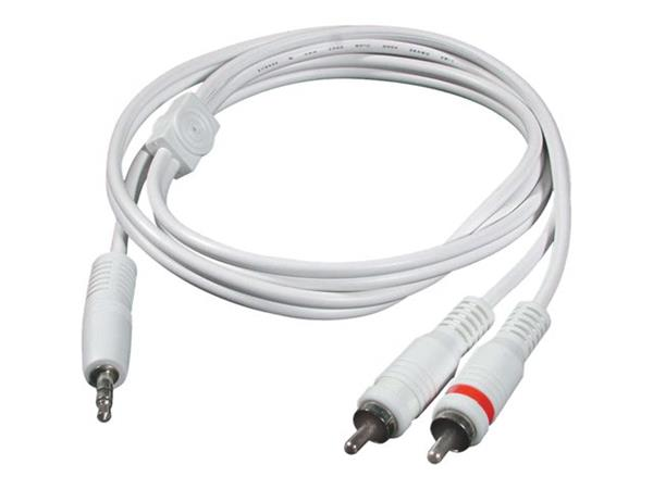 C2G 2m One 3.5mm Male to Two RCA Male Audio Y-Cable - White
