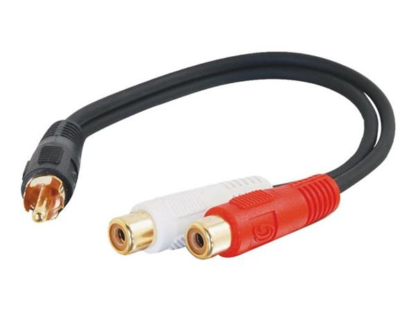 C2G .15m Value Series™ One RCA Mono Male to Two RCA Stereo Female Y-Cable