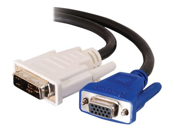 C2G 5m DVI-A Male to HD15 VGA Female Analogue Video Extension Cable