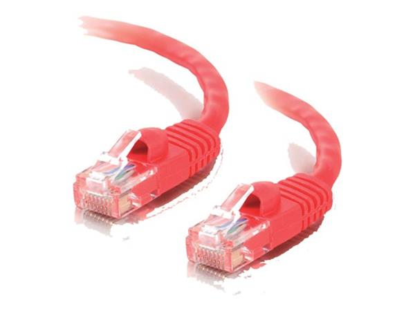 C2G 1m Cat5E 350 MHz Snagless Booted Patch Cable - Red