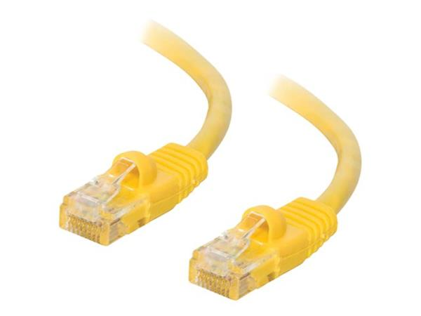 C2G 1m Cat5E 350 MHz Snagless Booted Patch Cable - Yellow