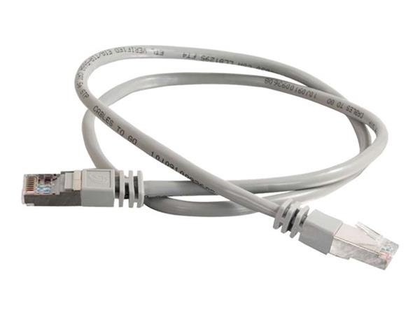 C2G 30m Shielded Cat5E Moulded Patch Cable - Grey