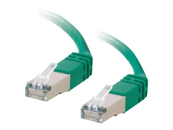 C2G 7m Shielded Cat5E Moulded Patch Cable - Green