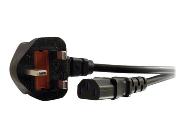 C2G 10m 16 AWG Universal Power Cord (IEC320C13 to BS 1363)