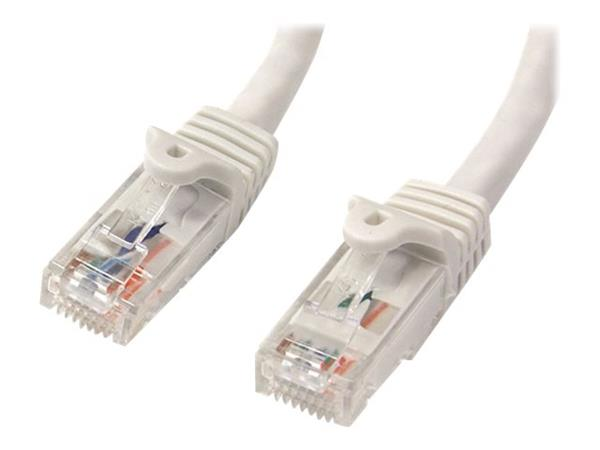 StarTech.com 25 ft White Gigabit Snagless RJ45 UTP Cat6 Patch Cable