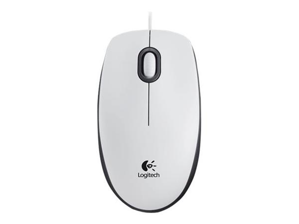 Logitech M100 White USB Optical Wired Mouse