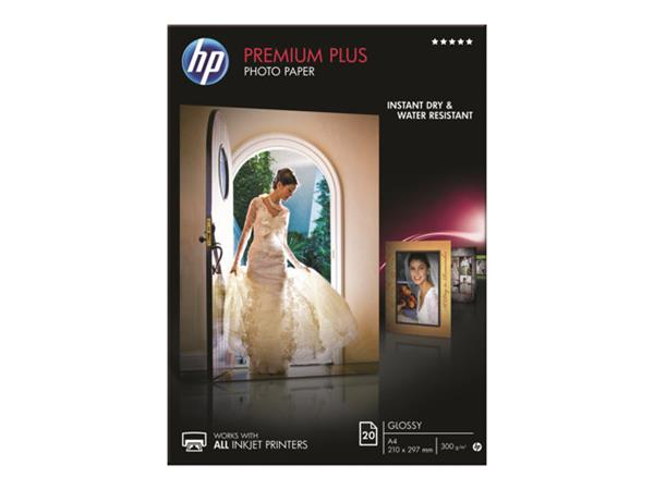 HP Premium Plus Glossy Photo Paper-20 sheet/A4/210 x 297 mm