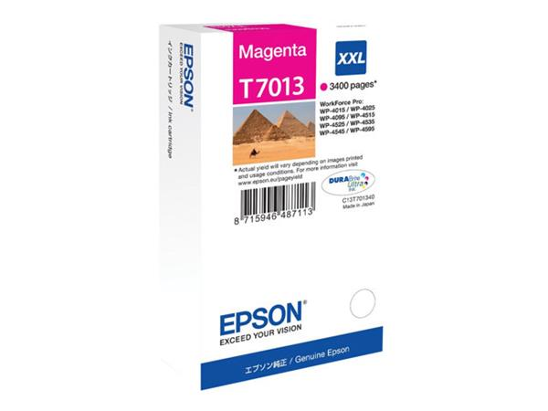 Epson Print cartridge - XXL - 1 x Magenta - 3400 pages - for WorkForce Pro WP4000/4500 Series
