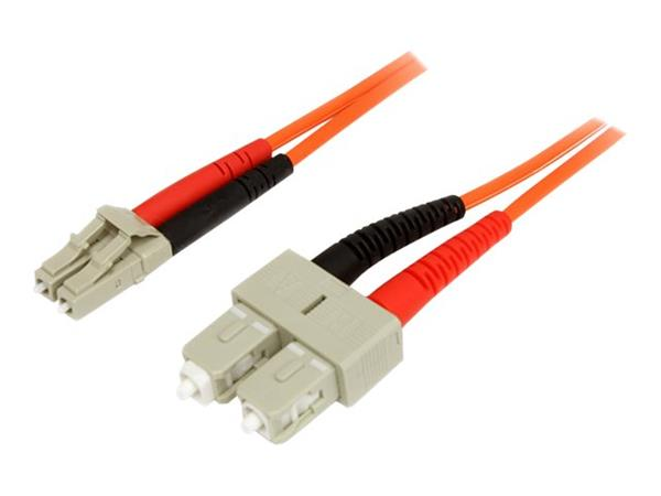 StarTech.com 3m Multimode 50/125 Duplex Fiber Patch Cable LC - SC
