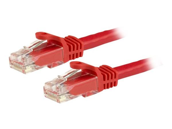 StarTech.com 15m Red Gigabit Snagless RJ45 UTP Cat6 Patch Cable
