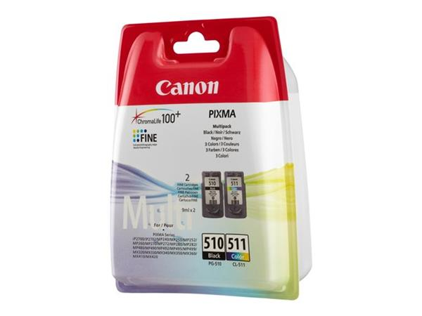 Canon PG-510 / CL-511 Multi pack - 1 x black, colour (cyan, magenta, yellow) - for PIXMA