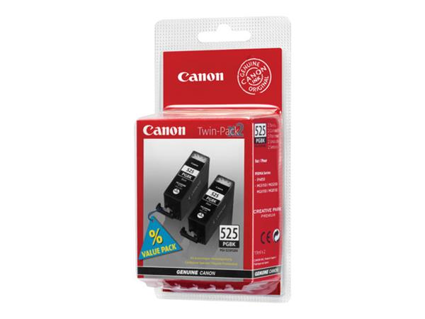 Canon PGI 525PGBK Twin Pack - Ink tank - 2 x black - for PIXMA