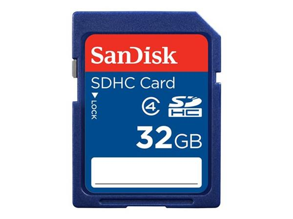 SanDisk Standard - Flash memory card - 32 GB - Class 4 - SDHC
