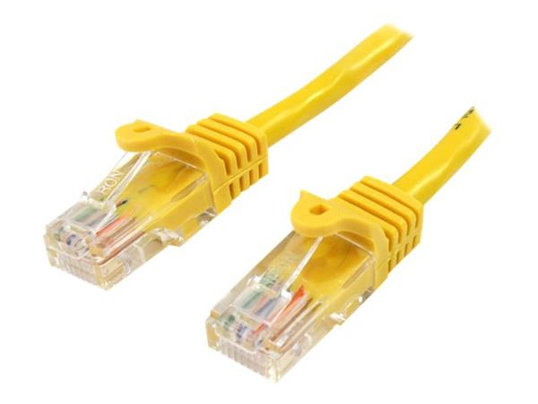 StarTech.com 10 ft Cat5e Yellow Snagless RJ45 UTP Cat 5e Patch Cable