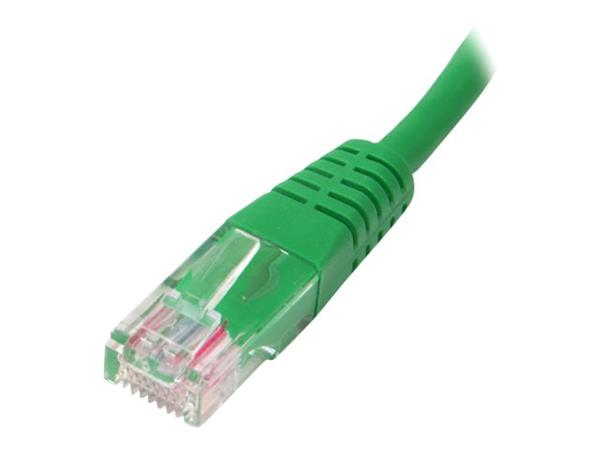 StarTech.com 1 ft Cat5e Green Molded RJ45 UTP Cat 5e Patch Cable
