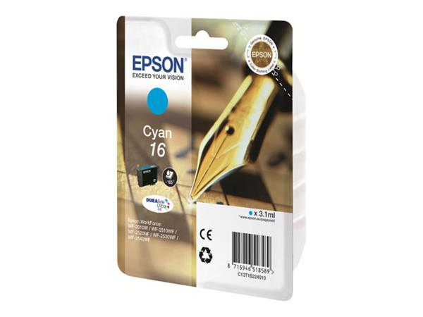 Epson 16 - Ink Cartridge - 1 x Cyan - 165 pages - Pen and Crossword