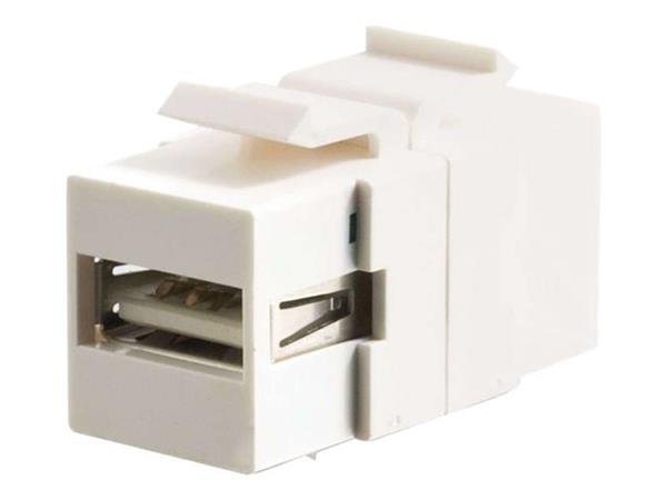 C2G Snap-In USB A/B Female Keystone Insert Module - White