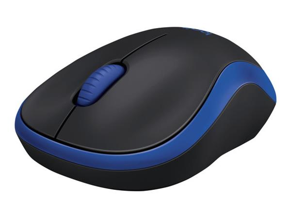 Logitech Wireless Mouse M185 - wireless - 2.4 GHz - USB wireless receiver - blue