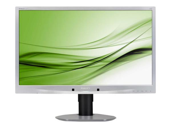 "Philips 24"" Brilliance LED Backlight LCD Full HD Monitor Silver"