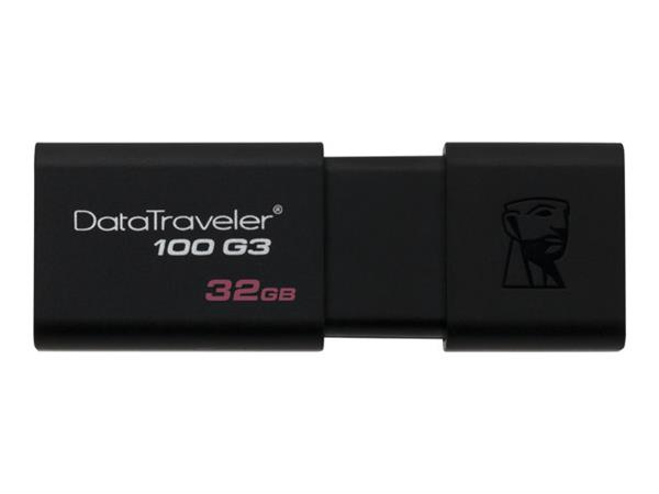 Kingston DataTraveler 100 G3 USB flash drive 32GB USB 3.0 Black