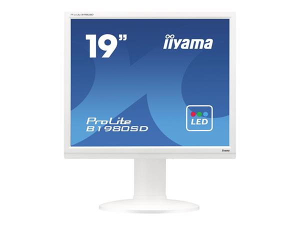 "iiyama ProLite B1980SD-W1 19"" 1280x1024 5ms Height Adjustable DVI-D VGA White Monitor with Speakers"