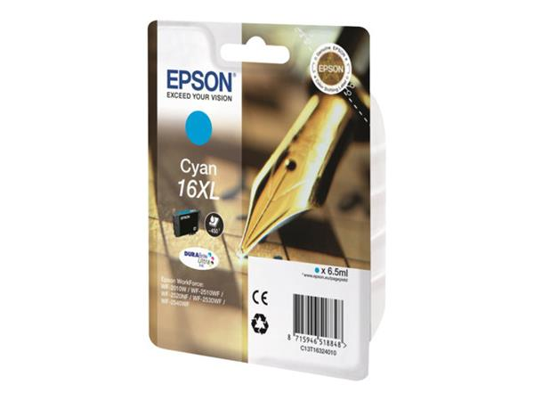 Epson 16 Series XL Ink Cartridge - Cyan - 450 Pages- Pen & Crossword