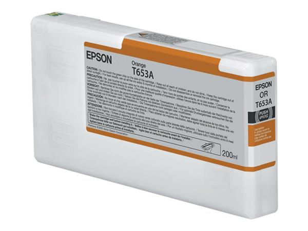 Epson T653A Orange Ink Cartridge (200ml)