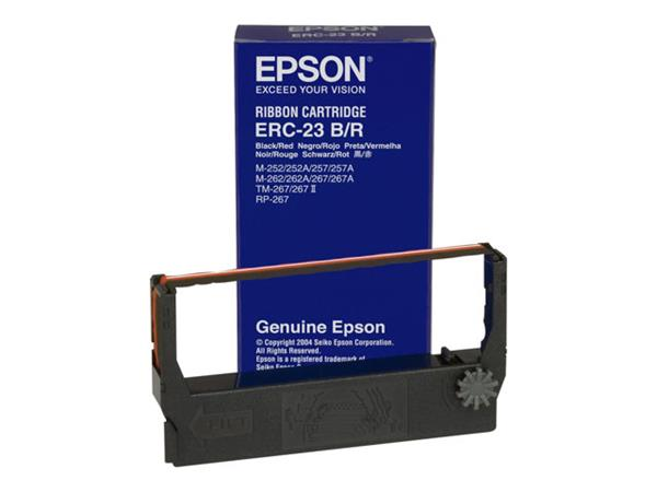 Epson ERC23BR Cartridge for TM-267/II, M-252/262/267 Black/Red