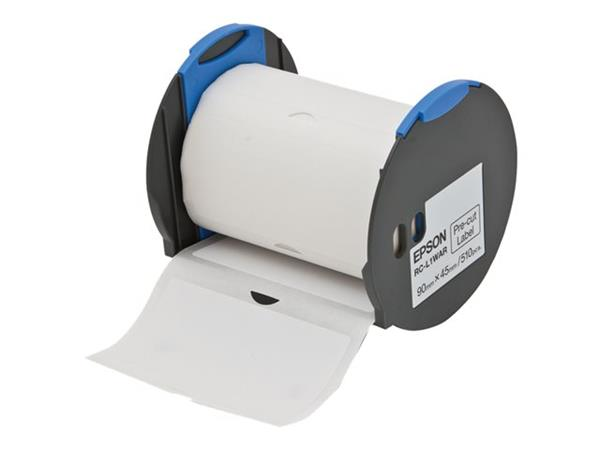 "Epson RC-L1WAR White Pre-Cut Label Roll 3.6""x1.8"" (45mm x 90mm)"