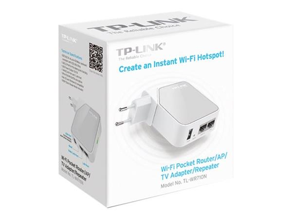 TP LINK TL-WR710N 150Mbps Wireless N Mini Pocket Router