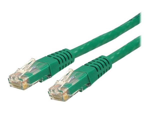StarTech.com 2 ft Cat 6 Green Molded RJ45 UTP Gigabit Cat6 Patch Cable