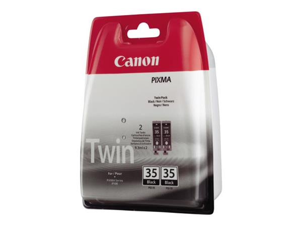 Canon PGI-35 Twin Pack - Ink tank - 2 x pigmented black - 191 pages