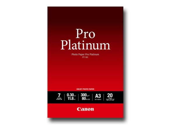 Canon Platinum Photo Paper A3 20 Sheets