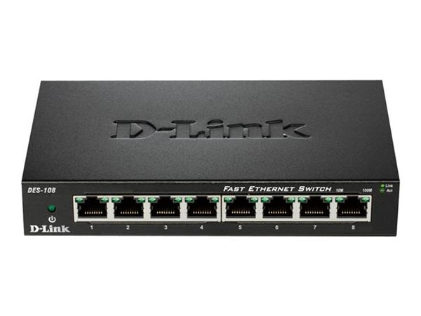 D-Link 8-port 10/100 Desktop Switch