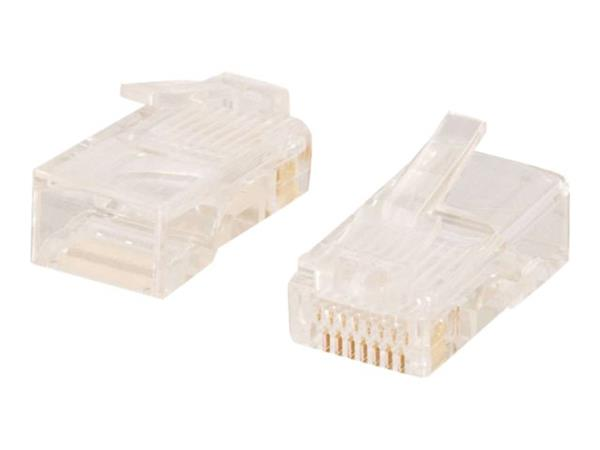 C2G RJ45 CAT5e 8x8 Modular Plugs for Round Stranded Cable (50pk)