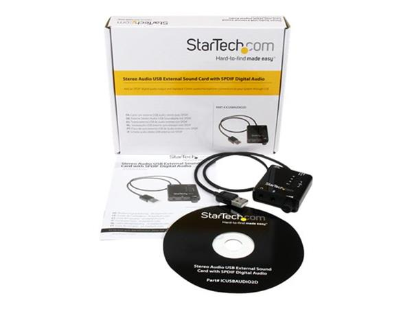 StarTech.com USB Stereo Audio Adapter External Sound Card with SPDIF Digital Audio
