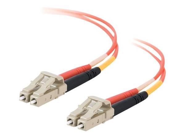 C2G 20m LC-LC 50/125 OM2 Duplex Multimode PVC Fibre Optic Cable (LSZH) - Orange