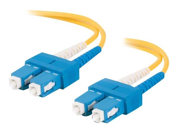 C2G 20m SC-SC 9/125 OS1 Duplex Singlemode PVC Fibre Optic Cable (LSZH) - Yellow