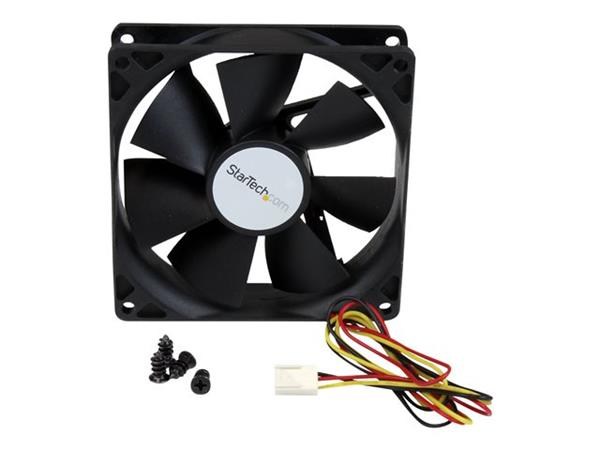 StarTech.com 90x25mm High Air Flow Dual Ball Bearing Computer Case Fan with TX3