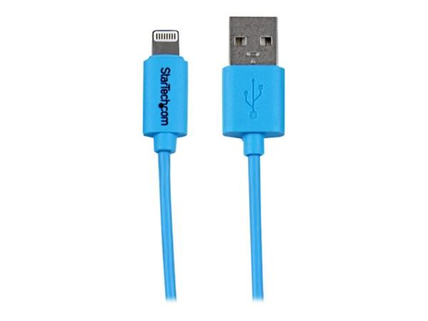 StarTech.com 1m (3ft) Blue Apple 8-pin Lightning Connector to USB Cable for iPhone / iPod / iPad