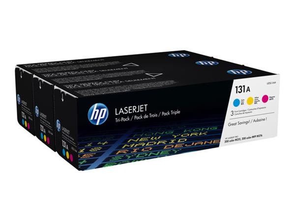 HP 131A Cyan/Yellow/Magenta Tri-Pack Toner Cartridge