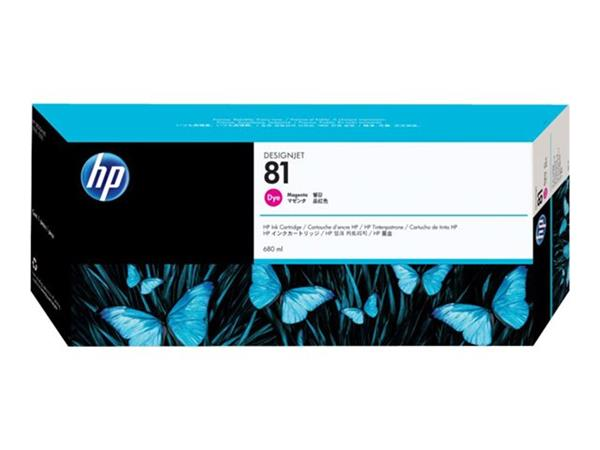 HP 81 680-ml Magenta Dye Ink Cartridge