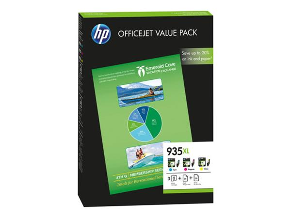 HP 935XL Officejet Value Pack Cyan, Magenta & Yellow Inks